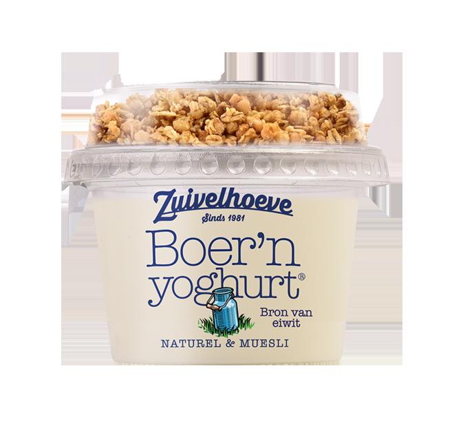 zuivelhoeve yoghurt met muesli